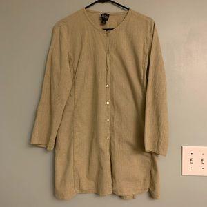 Eileen Fisher Button Down Cardigan/Tunic Sz L